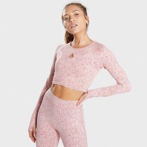 NWOT Gymshark Fleur Pink Textured Set!!!